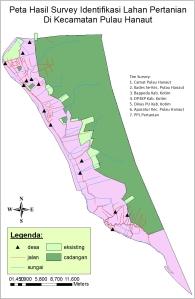 Peta Hasil Susur Sawah di Kec. Pulau Hanaut
